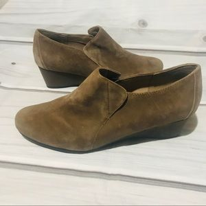 Easy Spirit e360 Suede Wedge Shoes